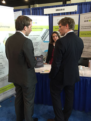 CondAlign stand at the TechConnect Expo 2016